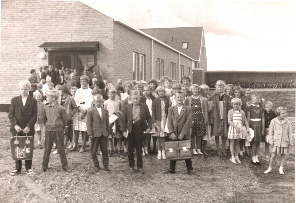 Skottorps nya Skola. 1957. Första året i den nya skolan.