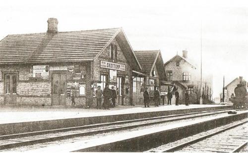 Skottorps station vykort 1909