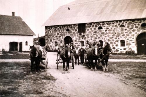 Statare på Skottorps gård före 1940 troligtvis 1930t