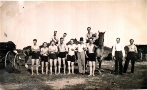 Statare på utflykt till stranden före 1940