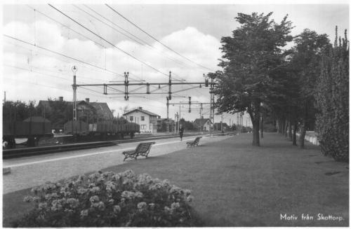 jarnvagsstationen skottorp 194X